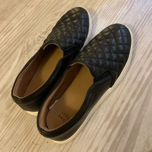 Quilted Black Sneakers 8.5